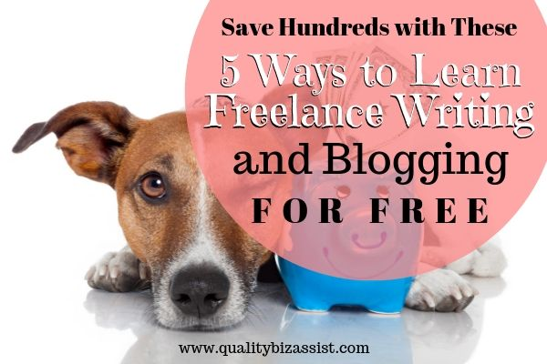 Become a freelance writer and blogger online for free. 5 free resources.