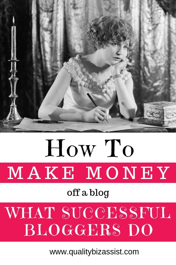 How to make money off a blog.
