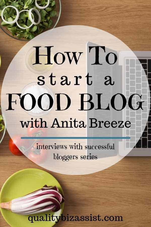 How to start a food blog with Anita Breeze